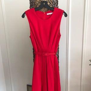 Trina Turk Belted Red Dress